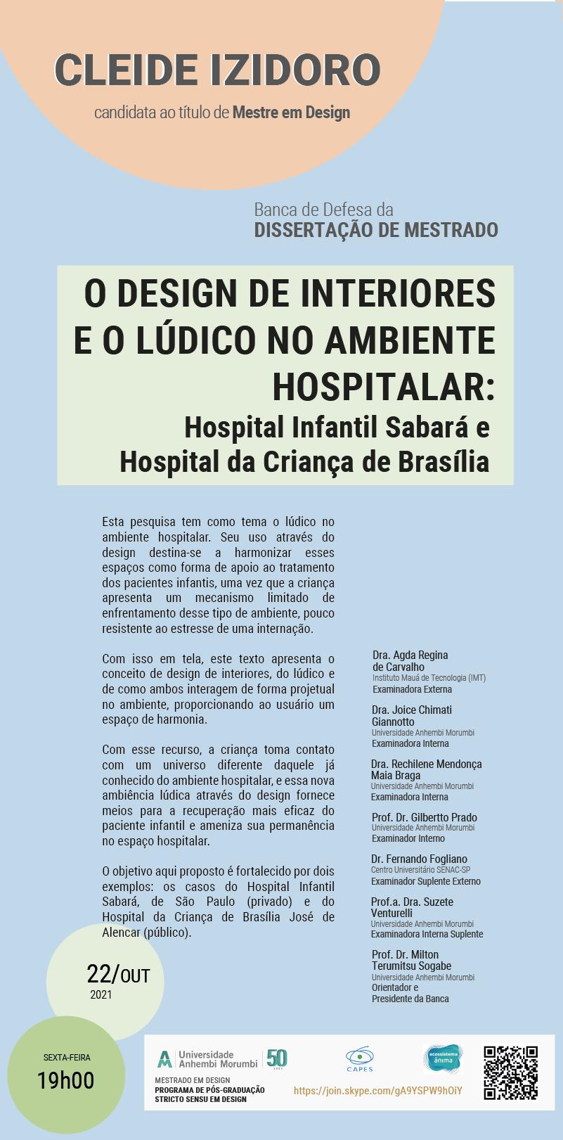 BANCA DEFESA DISSERTAÇÃO: CLEIDE IZIDORO - 22/10/21 às 19H