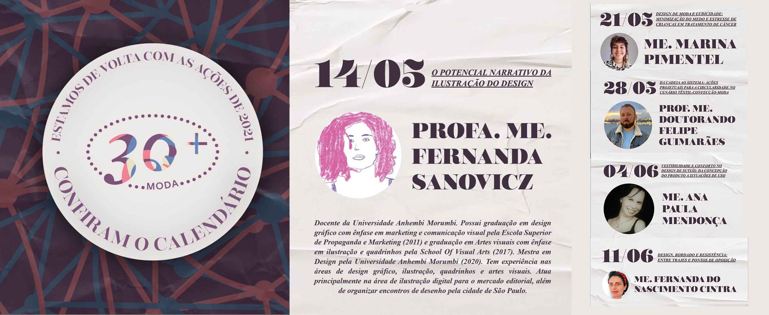 Banner sobre o evento MODA30+